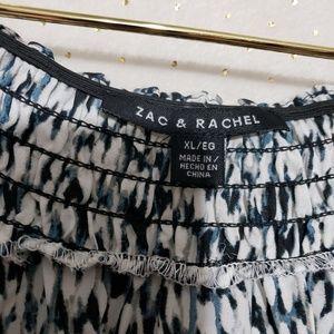 Zac & Rachel Tops - Abstract Print Boatneck Blouse*NWT*Sz XL*